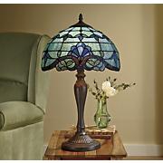 Fleur-De-Lis Stained Glass Lamp