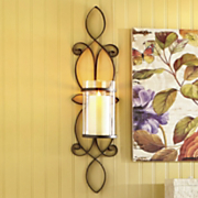 manderley scrolled metal sconce