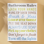 bathroom rules wall art