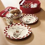 16 piece bon appetit chef dinnerware set