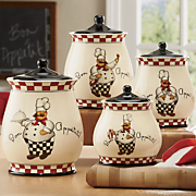 Bon Appetit Chef 4-Piece Canister Set