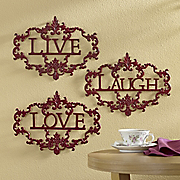 3-Piece Live, Laugh, Love Wall Art