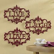 3 piece live laugh love wall art
