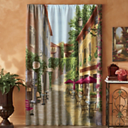 Tuscan Village Window Panel Pair