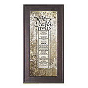 the dash between framed wall art