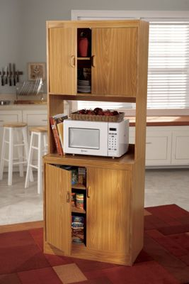 Space Solutions Microwave Cabinet