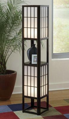 Shoji lamps from seventh avenue 706158 for Floor lamp with shelves australia
