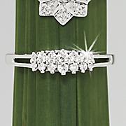 diamond roof band ring