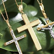 gold flat cross pendant
