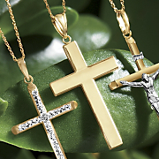 gold flat cross pendant