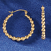 gold bead hoops