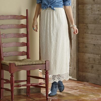 Prairie Winds Embroidered Lace Skirt