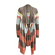 sunshine stripe cascading sweater