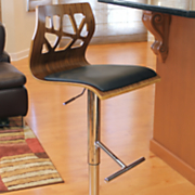 folia wood adjustable barstool