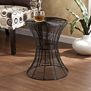 indoor outdoor round metal accent table