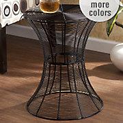 indoor outdoor round metal accent table