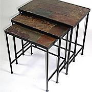 set of 3 slate nesting tables