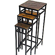 set of 3 slate square plant stands