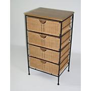 4 drawer wicker storage