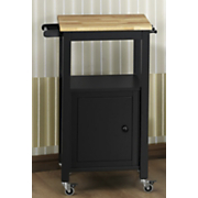 louis kitchen cart with wood top