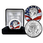 jfk american flag coin