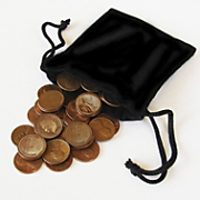 Bag of Coins with Indian Head Coin