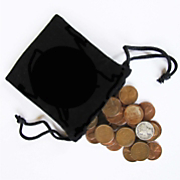 Bag of Coins with Mercury Dime