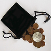 Bag of Coins with Silver Half Dollar