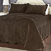 Versailles Velvet Quilted Bedspread & Sham