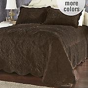 versailles velvet quilted bedspread sham