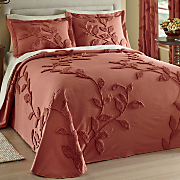 Florissant Chenille Bedspread, Sham & Window Panel