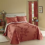 Florissant Chenille Bedspread, Sham & Window Panel