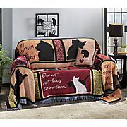 kitty collage furniture throw