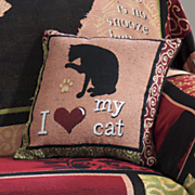 kitty collage pillow