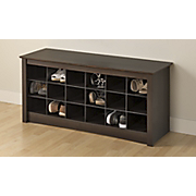 shoe storage cubbie bench