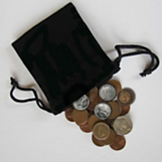 bag of coins with six special coins