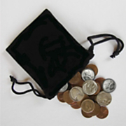 bag of coins with seven special coins