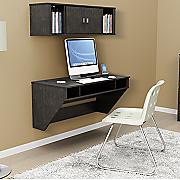 floating desk and hutch