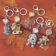 animal glitter keychain clock