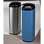Auto-Open Brushed-Finish Trash Bin
