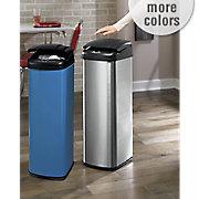 auto open brushed finish trash bin