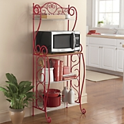 scroll kitchen microwave cart