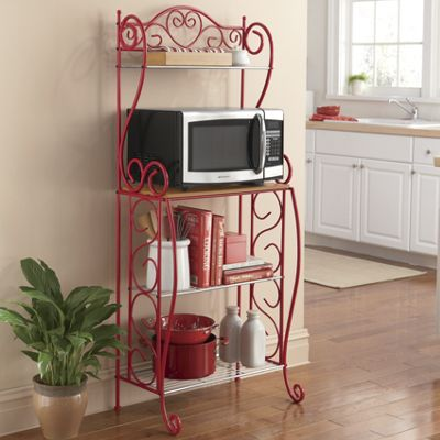 Heart Scroll Microwave Cart