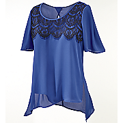 torina lace trim top