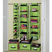 Colorful Hanging Organizers and Boxes