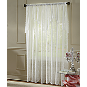 pollencia lace window panel with valance