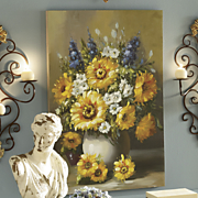 Golden Hours Floral Painted Canvas