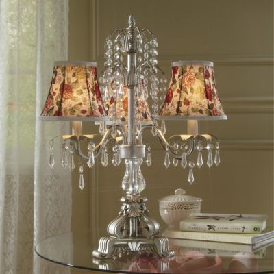 Floral Shade Chandelier Lamp