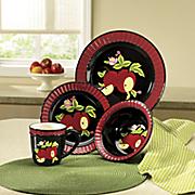 16-Piece Midnight Apple Dinnerware Set