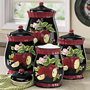 4-Piece Apple Canister Set